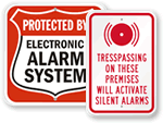 All Security Alarm Signs