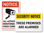 Security Alarm Window Decals