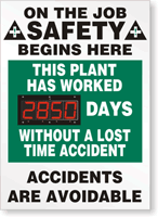 Shine-a-Day™ Safety Scoreboards