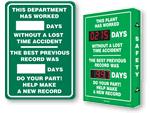Previous Record Safety Scoreboards