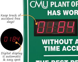 Custom safety scoreboards with digital display