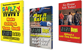 Electronic Shine-a-Day™ Safety Scoreboards with Photos