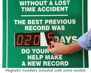 Magnetic safety scoreboard