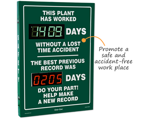 No Lost-Time Accidents Scoreboards