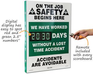 Safety scoreboards digital