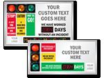 Custom Big Safety Scoreboards
