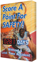 Score a Point for Safety! (Basketball Theme) Sign