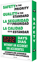 Bilingual Safety is the Priority Quality Standard Sign