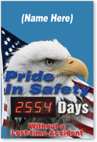 Custom Photo Electronic Job Safety Scoreboard
