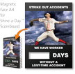 Strike Out Accidents, Baseball Theme Scoreboard Magnetic Face
