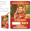 Safety Is Family Value Scoreboards Magnetic Face