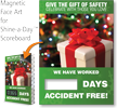 Give Gift Of Safety, Celebrate Scoreboard Magnetic Face