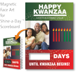 Happy Kwanzaa, Safety Is Family Value Scoreboard Face