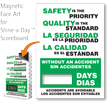 Safety Is Priority Changeable Scoreboard Magnetic Face