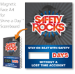 Safety Rocks, Stay On Beat Scoreboard Magnetic Face