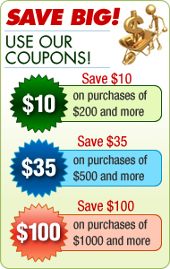 click here to see our coupons