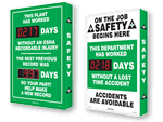 Electronic Shine-a-Day™ Safety Scoreboards