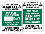 On the Job Safety Scoreboards