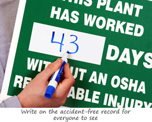 Writeon Mark-a-Day™ Safety Scoreboards