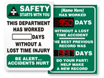 Department Safety Scoreboards