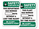 Safety Starts with You Scoreboards