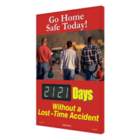 Go Home Safe Today! Sign