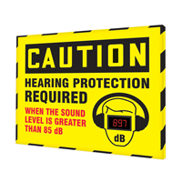 Hearing Protection Required Decibel Meter Sign