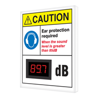 Ear Protection Required Decibel Meter Sign