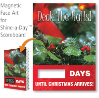 Deck The Halls Scoreboard Changeable Magnetic Face