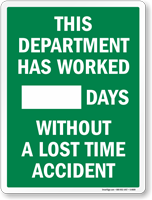 Department Has Worked For __ Scoreboard Sign