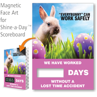 Everybunny Can Work Safely Scoreboard Changeable Magnetic Face