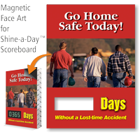 Go Home Safe Today Scoreboard Changeable Magnetic Face