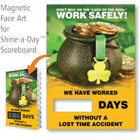 Don't Rely Luck Of Irish Scoreboard Magnetic Face