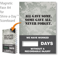 All Gave Some Never Forget Scoreboard Magnetic Face