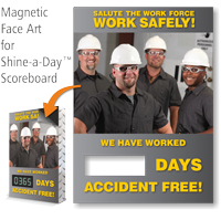 Salute Work Force Work Safely Scoreboard Changeable Face
