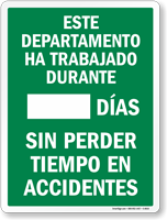 Spanish Scoreboard Sign