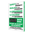 Electronic Shine-a-Day™ Bilingual Safety Scoreboards