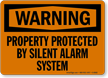 Warning Property Protected Sign